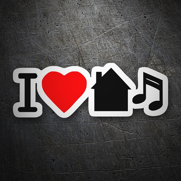 Car & Motorbike Stickers: I love home