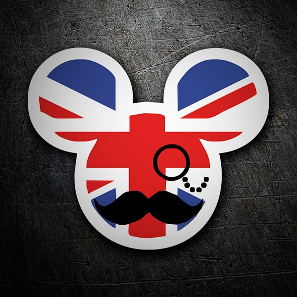 Car and Motorbike Stickers: Great Britain Mickie Mouse