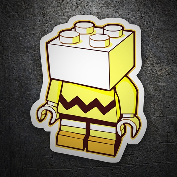 Car & Motorbike Stickers: LEGO Charlie Brown