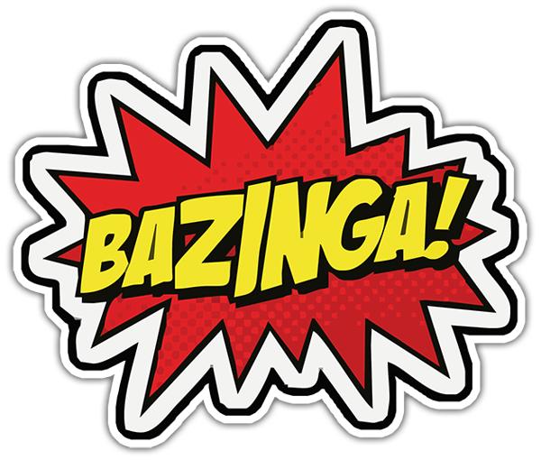 Bazinga sticker (Big bang theory) | MuralDecal.com