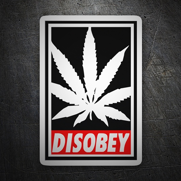 Car & Motorbike Stickers: Disobey marijuana
