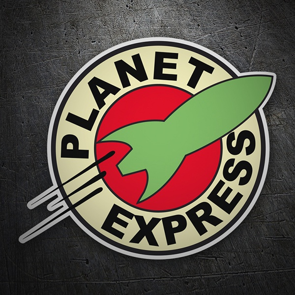 Car and Motorbike Stickers: Futurama Planet express