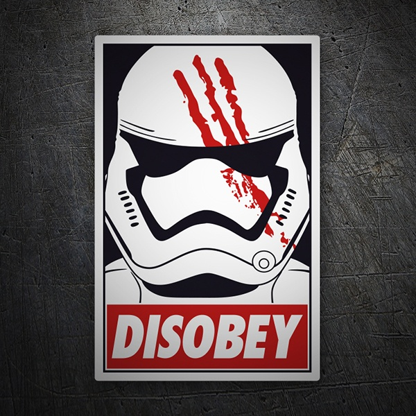Car & Motorbike Stickers: DisobeyDisobey Finn (Star Wars)