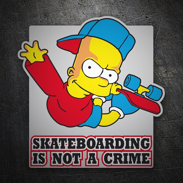 Car & Motorbike Stickers: Bart Simpon skate