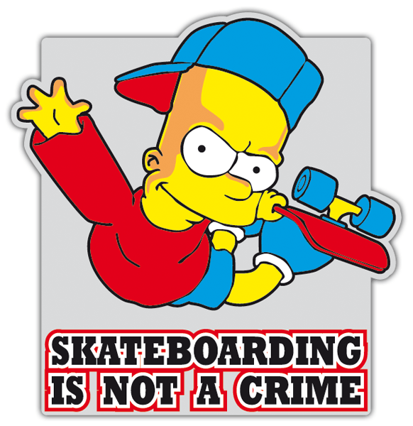 Car motorbike stickers bart simpon skate