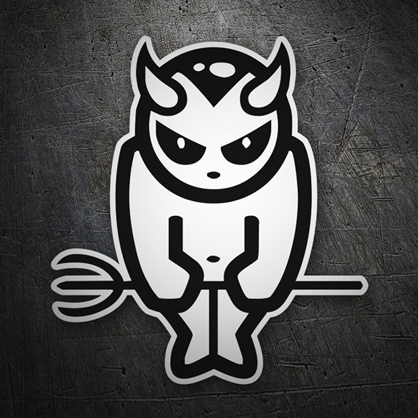 Car & Motorbike Stickers: White Devil