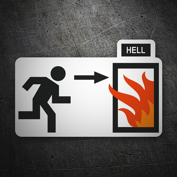 Car and Motorbike Stickers: Door to hell
