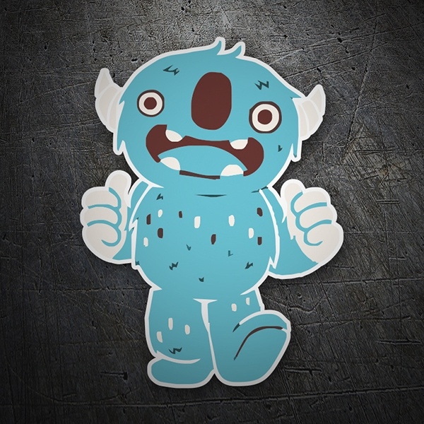 Car & Motorbike Stickers: Blue Monster