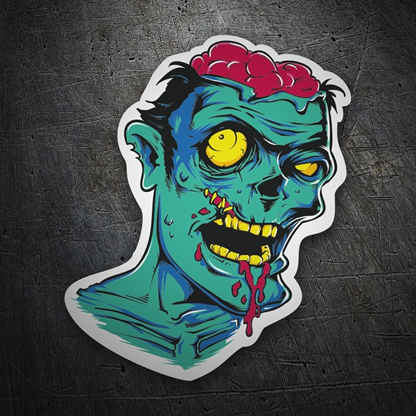 Car and Motorbike Stickers: Zombie
