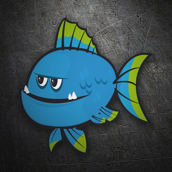 Car & Motorbike Stickers: Blue fish