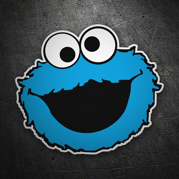 Car & Motorbike Stickers: Monster Cookies Happy