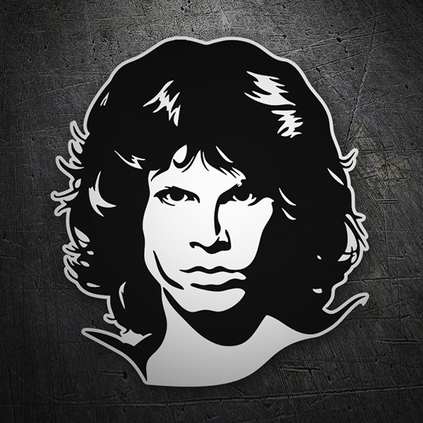 Car & Motorbike Stickers: Jim Morrison The Doors