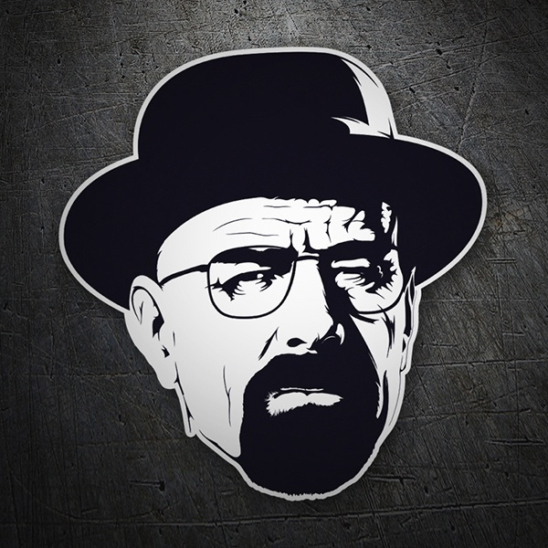 b8740be73e6 Breaking bad Walter White hat sticker