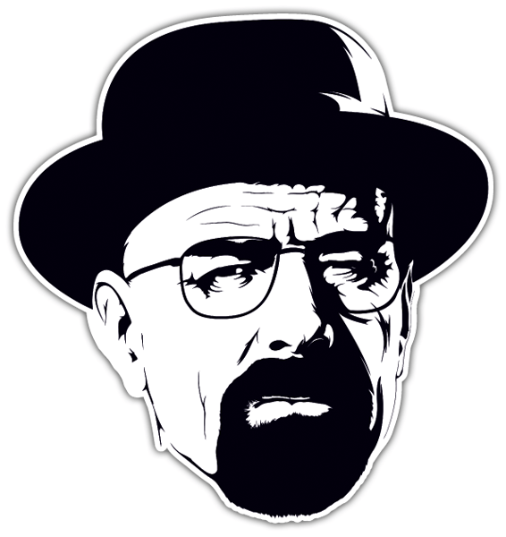 Car motorbike stickers breaking bad walter white hat