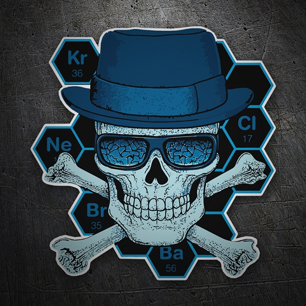 Car and Motorbike Stickers: Breaking Bad Formula skull