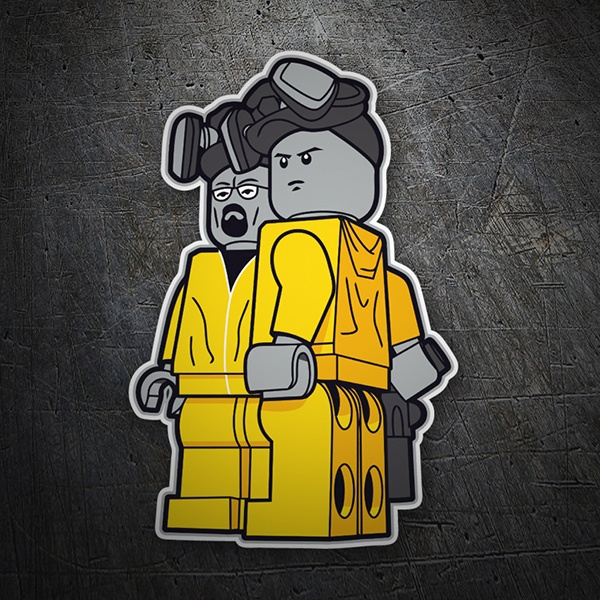 Car and Motorbike Stickers: Breaking Bad Lego
