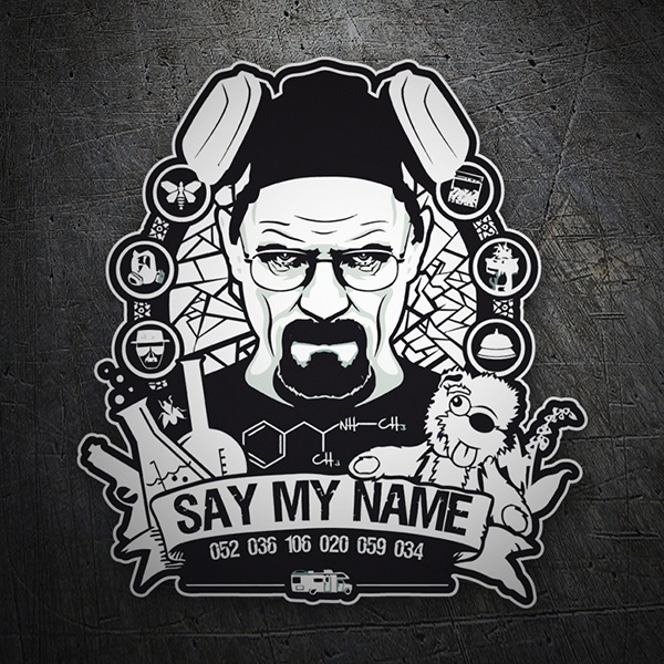 Car and Motorbike Stickers: Breaking Bad Say My Name