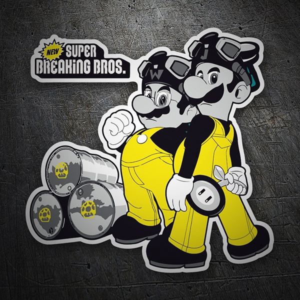 Car & Motorbike Stickers: Breaking Bad Super Mario Bros