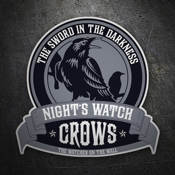 Car & Motorbike Stickers: Nights Watch Crows