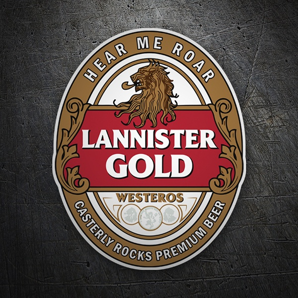 Car & Motorbike Stickers: Game of Thrones Lannister Gold