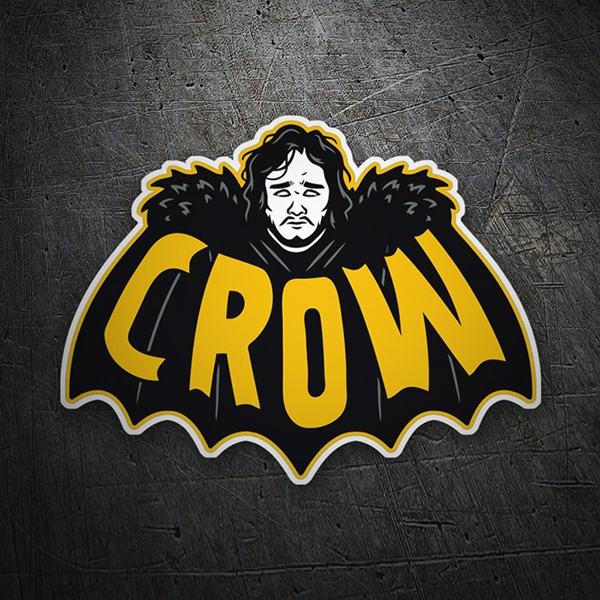 Car & Motorbike Stickers: Crow Throne Game