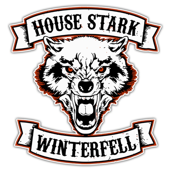 Car & Motorbike Stickers: Games of Thrones House Stark - Winterfell