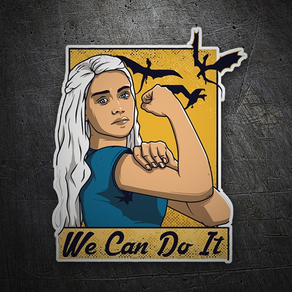 Car & Motorbike Stickers: Game of Thrones We Can Do It