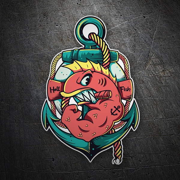 Car & Motorbike Stickers: Hell Fish
