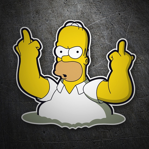 Car & Motorbike Stickers: Homer Fuck