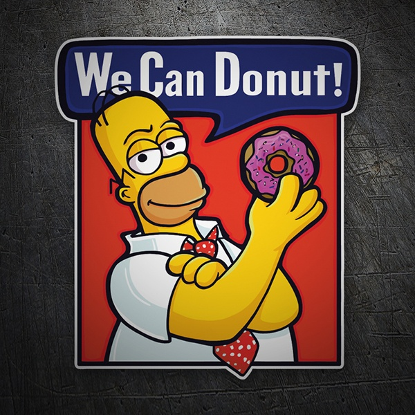 Car and Motorbike Stickers: We can Donut