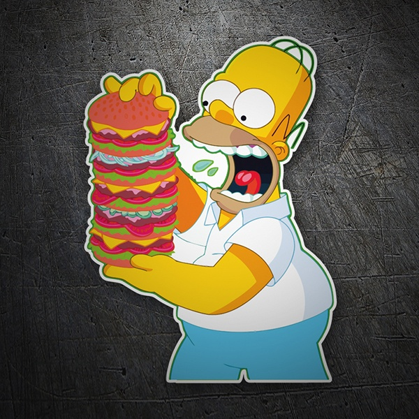 Car and Motorbike Stickers: Homer mountain burgers