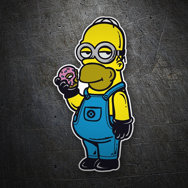 Car and Motorbike Stickers: Homer Minion