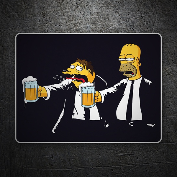 Car & Motorbike Stickers: Pulp Simpsons