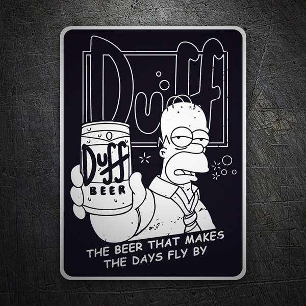Car and Motorbike Stickers: Homer ad Duff