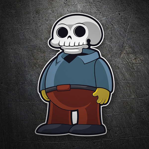Car and Motorbike Stickers: Ralph Wiggum Skull