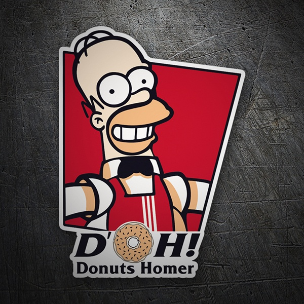 Car and Motorbike Stickers: Donuts Homer