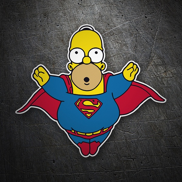Car and Motorbike Stickers: Super Homer