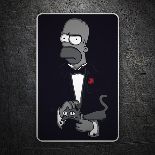 Car and Motorbike Stickers: The Godfather Homer
