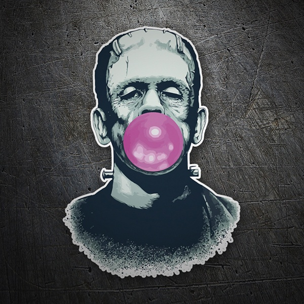 Car & Motorbike Stickers: Frankenstein with chewing gum