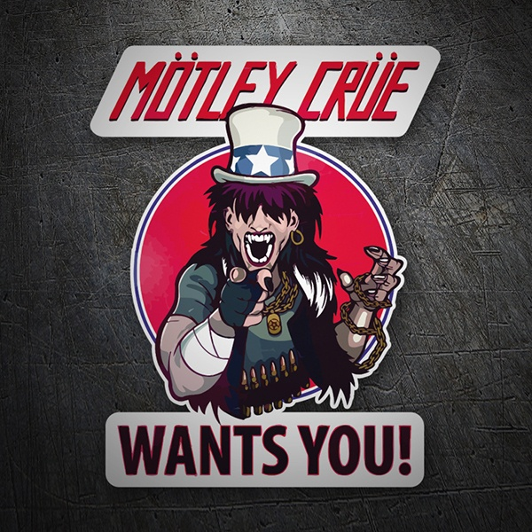 Car and Motorbike Stickers: Mötley Crüe, Wants You?