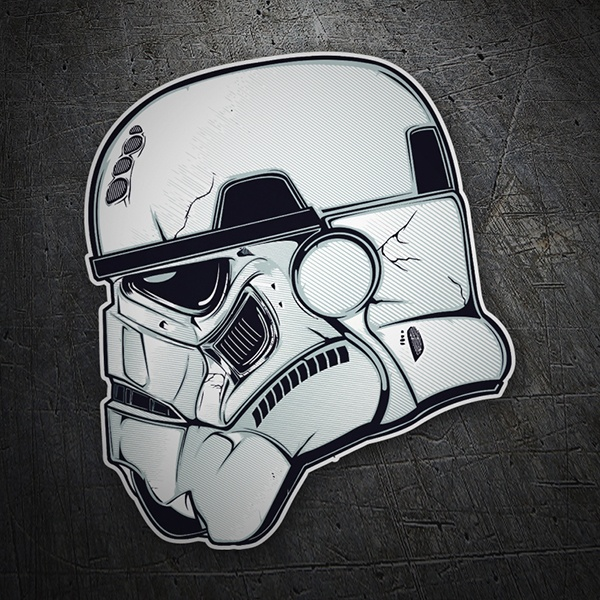 Car and Motorbike Stickers: Stormtrooper Helmet