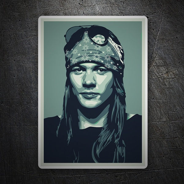 Car and Motorbike Stickers: Axl Rose Pop Art