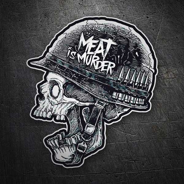 Car and Motorbike Stickers: Meat is Murder