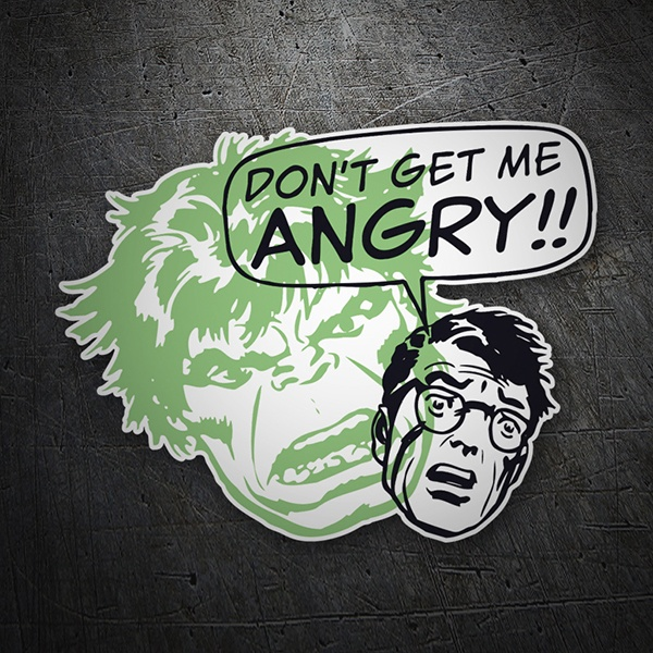 Car and Motorbike Stickers: Don´t get me Angry