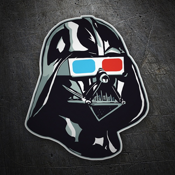 Car and Motorbike Stickers: Darth Vader with 3D glasses