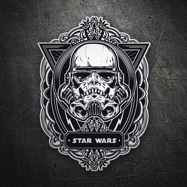 Car and Motorbike Stickers: Stormtrooper skull emblem