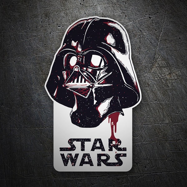 Car and Motorbike Stickers: Darth Vader Galaxy
