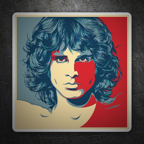 Car & Motorbike Stickers: Jim Morrison Pop Art