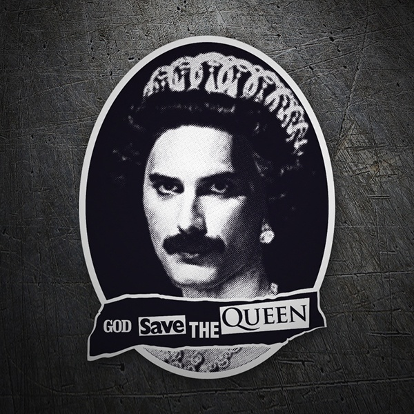 Car & Motorbike Stickers: God save the Queen
