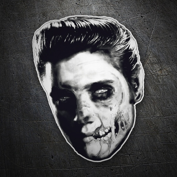 Car and Motorbike Stickers: Elvis Skull
